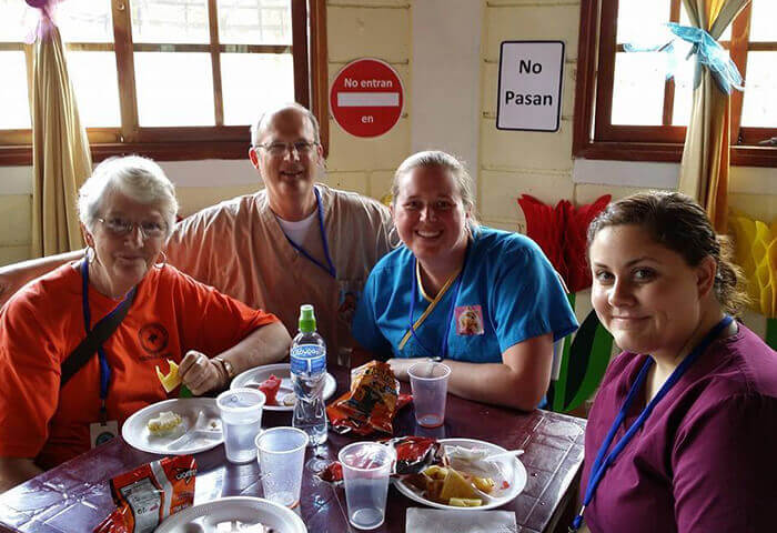Dental team at community meal