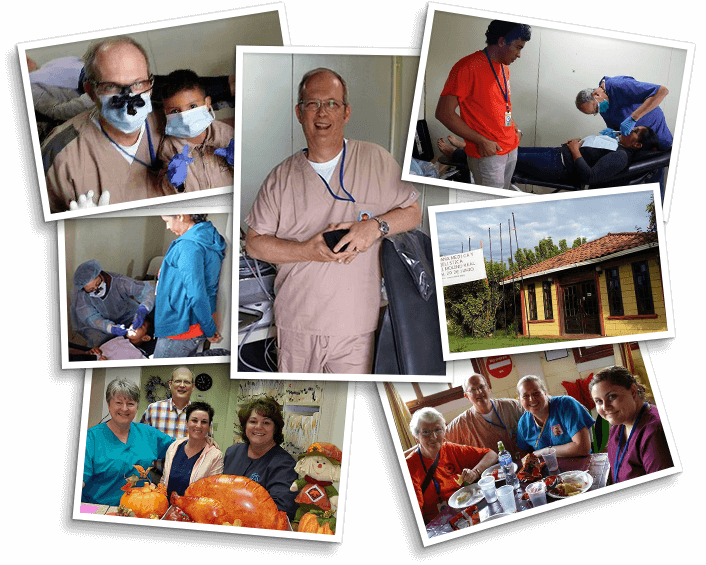 Collage of community involvement photos